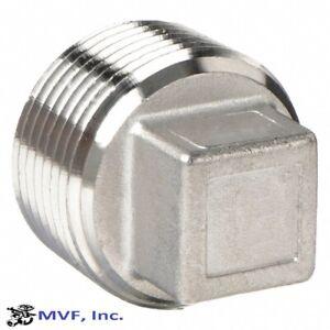 "1/2"" 150 Threaded (NPT) Square Head Plug 304 Stainless Steel <SS150441304"
