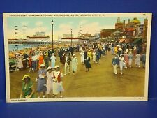 Million Dollar Pier Atlantic City New Jersey1937 Vintage Color Postcard PC7
