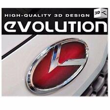 (Fit: KIA 2011-2017 Optima K5) Red K Logo 3D Emblem 2pc SET Front + Rear