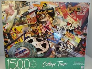1500 pc Movie Madness Montage Collage Time 32X24 Puzzle NIB Free Shipping