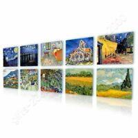 Irises Cafe Starry Night by Vincent Van Gogh | Canvas (Rolled) | Set Of 10 Wall