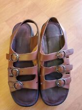 Clarks Springers Footbed Sandals Brown Leather Women US 9.5