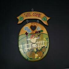 J.D.I Inc Welcome Sign Fall Themed Scarecrow Pumpkin Patch Handmade