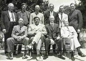 1939 Baseball Hall of Fame Babe Ruth PHOTO First Induction Group Ceremony Photo