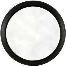 Antiqued Black Fireplace Living Bed Room Hall Deep Frame Round Wall Mirror