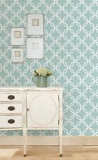 Wallpops Peel and Stick Blue and White Geometric Links Contemporary NU Wallpaper