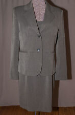Dress Suit Jacket Blazer Charter Club 2 Piece Set Gray Fully Lined Business 10