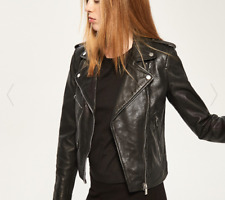 Reserved Leather Jacket Black Size UK 6 rrp £89.99 DH170 DD 04