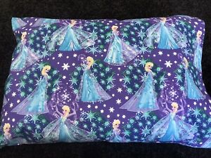 Handmade Frozen Elsa Pillowcase Toddler Cot Size 50cm X 36cm Daycare Comforter