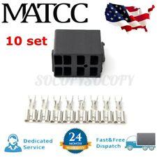 10 Pack Rocker Switch Wiring Connector Plug Female Spade Terminals Socket Set