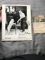 WIZARD OF OZ JUDY GARLAND Noel Langley Writer 8 Munchkins SIGNED Autograph