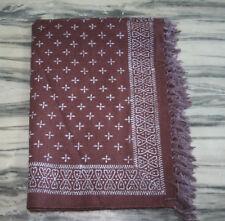 Handmade Wool Jute Rug Kilim Rug Hand Block Print Rug Turkish Rug christmas Gift