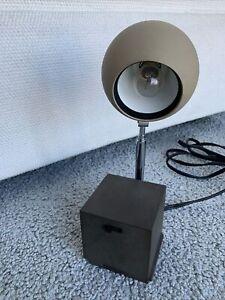 Vintage Michael Lax Lightolier Lytegem Brown & Tan Telescoping Eyeball Desk Lamp