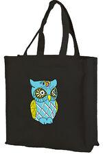 Owl Cotton Shopping Bag, Boy Owl, Choice of Colours