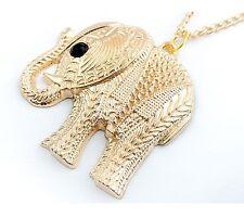 Gold Decorative Indian Elephant Animal Zoo Costume Jewellery Necklace