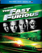 SteelBook - The Fast and the Furious 1 (Blu-ray  +DVD + Digital HD Copy)