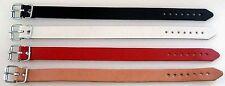1000 Lederriemen weis Rollschnalle 1,1 x 35,0 cm Riemen Kinderwagen Armband Lwph