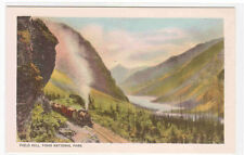CPR Railway Railroad Train Field Hill Yoho National Park BC Canada postcard
