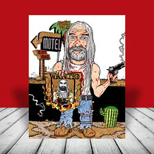 OTIS DRIFTWOOD The Devil's Rejects POSTER ART, rob zombie movie, artist signed