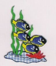 Marine Atlantic Blue Tang Embroidery Applique Patch