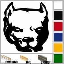 adesivo sticker DOG PITBULL cane prespaziato, auto moto,casco 10 cm