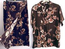 size 18 UNWORN M&S matching wraparound skirt & blouse set, skirt 33'' long
