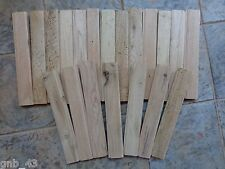 Lot of 20 Butternut Wood Tongue & Groove Paneling Pieces Small Boards
