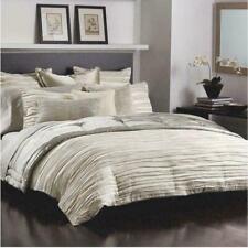 Nip Donna Karan Tidal Collection Euro Standard Pillow Sham Designer Silver Gray