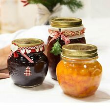 4 X 150ml Bormioli Rocco Quattro Stagioni Food Preserve Jars Gold Screw Lid