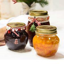 4 x 150ml Bormioli Rocco Quattro Stagioni Food Preserve Jars Gold Screw Lid