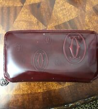 Cartier  Leather Wallet Ruby