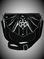 Restyle Black Crossbody Shoulder Bat Bag Purse Handbag for Gothic and Punk Women