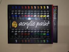 24 colori di vernice acrilica dipingere su tela, creta, tessuto e ceramica