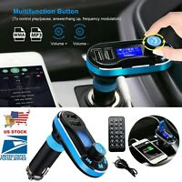 Car Kit FM Transmitter Wireless Radio Hands-free Adapter USB Charger W/Remote