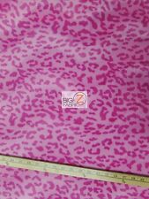 VELBOA FAUX FAKE FUR LEOPARD ANIMAL SHORT PILE FABRIC - Baby Pink - SOLD BY YARD