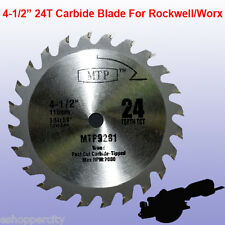 "4-1/2"" inch Carbide Circular Saw Blade for ROCKWELL RK3441K WORX RW9281 Compact"