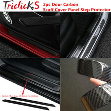 2x Universal Door Sill Carbon Fiber Car Scuff Plate Cover Panel Step Protector T