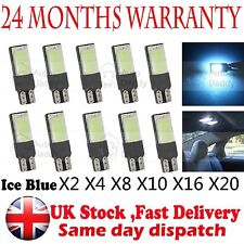 T10 Car Bulbs Led Error Free Canbus Smd Cob White Ice Blue W5W 501 Side Light