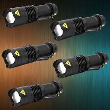 5 x Super Hell LED Taschenlampe Fokus Zoom Cree Q5 Flashlight Taschen Lampe AA