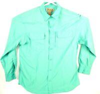 Duluth Trading Co Mens M Vented Hiking Fishing Green Long Sleeve Shirt