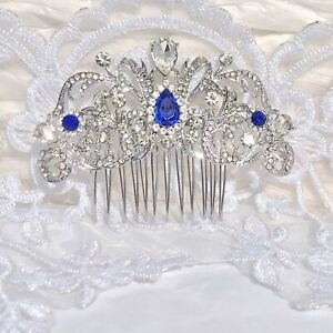 Ladies Diamante Rhinestone BridalProm Head Tiara Hair ClawComb Costume Jewellery
