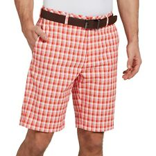 WALTER HAGEN MENS 11 MAJORS BRUSH STROKE RED PLAID GOLF SHORTS SIZE 30