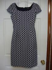 Ladies 8 Dress, Cap Sleeve, Navy & White , Alex Marie.