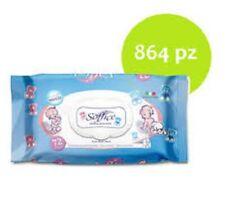 864 Salviette Neonato Profumo TALCO Imbevute Bimbi Cambio Detergenti