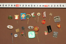 LOT 24 VINTAGE EUROPEAN BADGES PINS