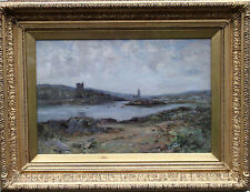 JOSEPH MORRIS HENDERSON  1863-1936 SCOTTISH KIRK TARBERT CASTLE OIL PAINTINGING