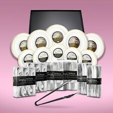 520 Piece Disposable Dinner Set With Gold Rims And Platters For Up To 100 People
