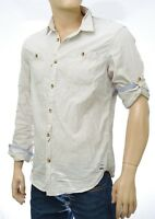Chemise SCOTCH & SODA homme écru rayures 2 en 1 taille L Longsleeve Shirt Worked