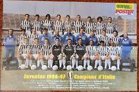 POSTER JUVENTUS 1996 1997 96 97 CAMPIONI DEL MONDO E D'ITALIA DEL PIERO