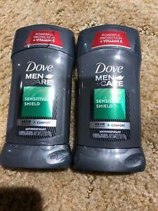 2 ~ Dove Men+Care Antiperspirant ~  Sensitive Shield 2.7 oz